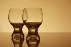 Dos vidrios retros Imagen de archivo libre de regalías