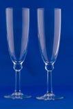 Dos vidrios vacíos del champán foto de archivo libre de regalías