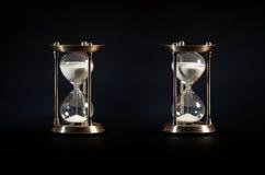 Dos vidrios viejos de la arena Imágenes de archivo libres de regalías