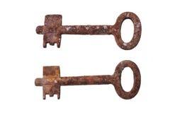 Dos viejos, clave oxidado Imagen de archivo libre de regalías