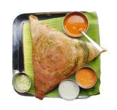 Dosa, chutney e sambar di Masala fotografia stock