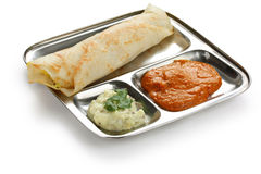 Dosa de Masala, alimento indiano sul fotos de stock royalty free