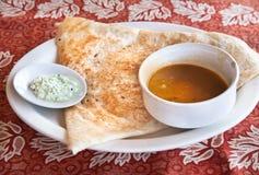 Dosa indien de masala Photo stock