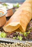 Dosa with Ingredients Stock Image