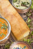 Dosa with Ingredients Royalty Free Stock Photography