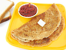 Dosa. Made from bread batter Stock Photos