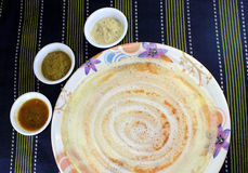 Dosa on plate Stock Photography