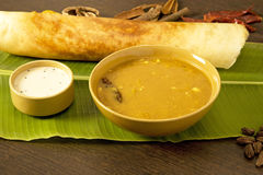 Dosa and Sambaar Stock Photography