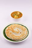 Dosa and sambar -Indian traditional breakfast Stock Image
