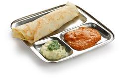 Dosa van Masala, zuiden Indisch voedsel royalty-vrije stock foto's
