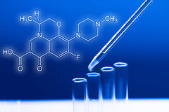 Dosage in blue light Royalty Free Stock Photography