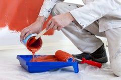 Dosando a pintura Imagem de Stock Royalty Free