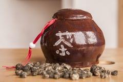 Dose cerâmica do chá imagens de stock