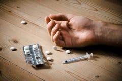 Dose eccessiva di droghe Immagini Stock