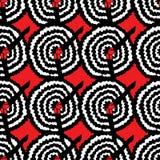 Dose kann Tänzer mit dem Bein oben, unter sirt in Folge rotem Hintergrund OM freihändige Vektorillustration Kabarettmuster lizenzfreie abbildung