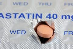 Dose quotidiana della compressa di statina fotografia stock