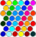 Dosen Farbe Lizenzfreies Stockfoto