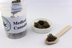 Dosering van medische marihuana royalty-vrije stock afbeelding