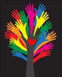 Dosięgać ręki miłości wolności różnorodność ilustracja wektor