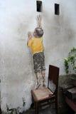 Dosięgać w górę ulicznej sztuki przy George miasteczkiem Zdjęcia Stock