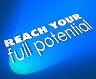 Dosięga Twój pełen potencjał 3d słów sposobności Nowego przyrosta Zdjęcie Stock