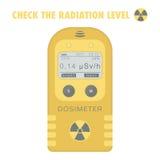 Dosimètre personnel de rayonnement gamma illustration de vecteur