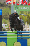 doskakiwania equestrian show Obraz Royalty Free