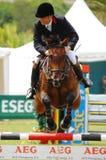 doskakiwania equestrian show Zdjęcia Stock