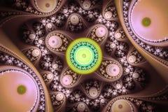 Doskonałość w geometrii Piękna fractal częstotliwość kształtuje ilustrację Fractals mogą ilustrować wszechświat, galaxies, chaos Obrazy Royalty Free