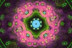 Doskonałość w geometrii Piękna fractal częstotliwość kształtuje ilustrację Fractals mogą ilustrować wszechświat, galaxies, chaos Obraz Royalty Free