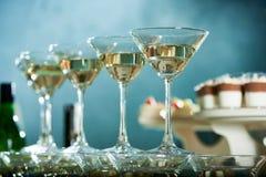 Doskonale okrzesani Martini szkła Obrazy Royalty Free