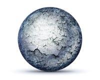 Doskonalić kamienną sferę na bielu royalty ilustracja
