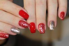 Doskonalić manicure i naturalnych gwoździe Zdjęcie Stock