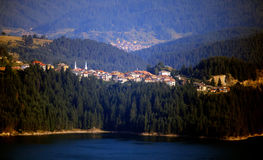 Dospat city in bulgarian mountains Royalty Free Stock Images