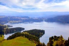 Dospat dam lake Royalty Free Stock Images