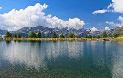 Doss dei Gembri jezioro Zdjęcia Stock