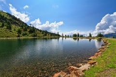 Doss dei Gembri lake in Pejo Valley Stock Photos