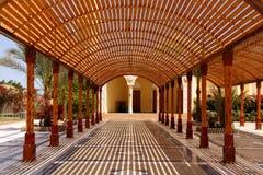 Dossel de madeira do sol imagem de stock royalty free