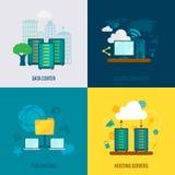 Dossier accueillant la composition plate en icônes illustration libre de droits