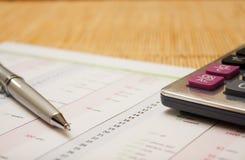 Dossier calc pen c1 Royalty-vrije Stock Afbeelding