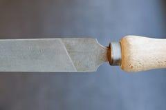Dossier démodé avec la poignée en bois Image stock