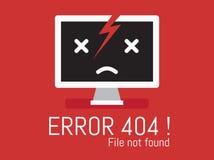 Dossier d'erreur 404 non trouvé image libre de droits