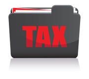 Dossier d'impôts Photographie stock