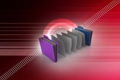 Dossier de bureau avec des documents Image stock