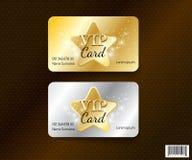 Dossier de conception-vecteur de symbole de carte de VIP Image libre de droits