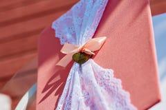 Dossier de décor de mariage dans le style de corail Images stock