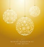 Dossier de luxe de vecteur du fond EPS10 de babioles de Joyeux Noël. Images libres de droits