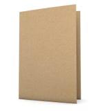 Dossier de papier réutilisé Photo stock