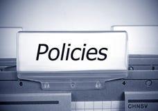 Dossier de politiques dans le bureau Images libres de droits