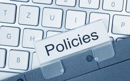 Dossier de politiques sur le clavier d'ordinateur Photo stock